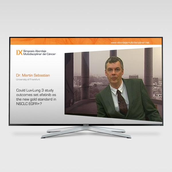 El vídeo del congrés en una TV